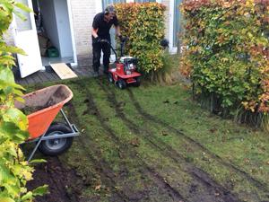 Graszoden verwijderen